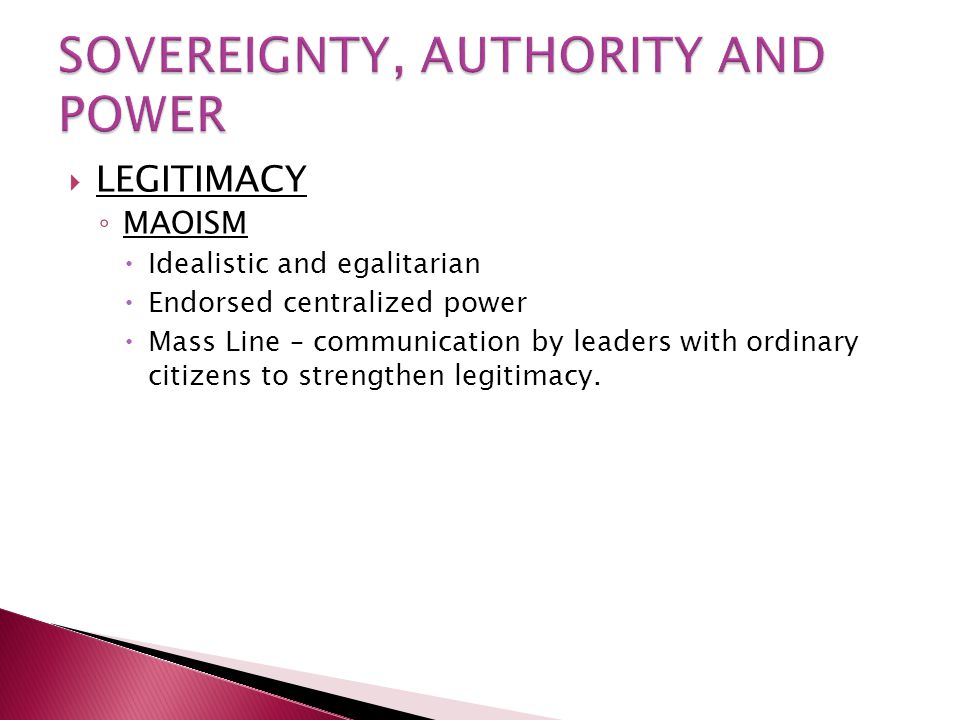 SOVEREIGNTY, AUTHORITY AND POWER