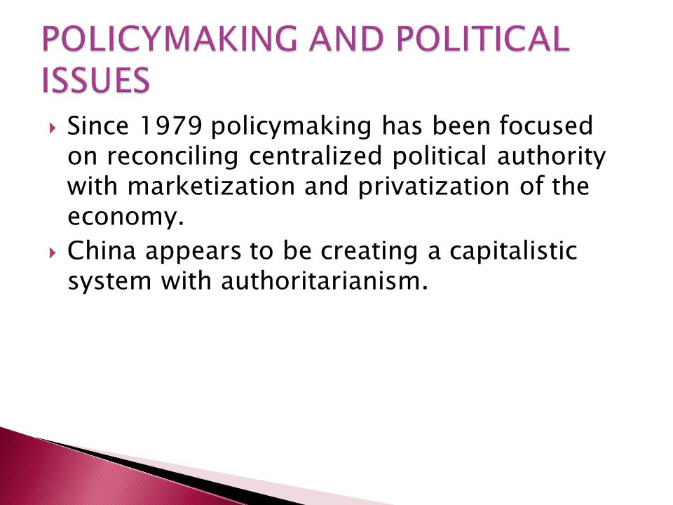 POLICYMAKING AND POLITICAL ISSUES