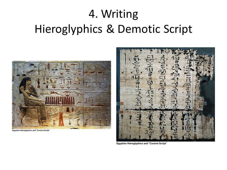 4. Writing Hieroglyphics & Demotic Script