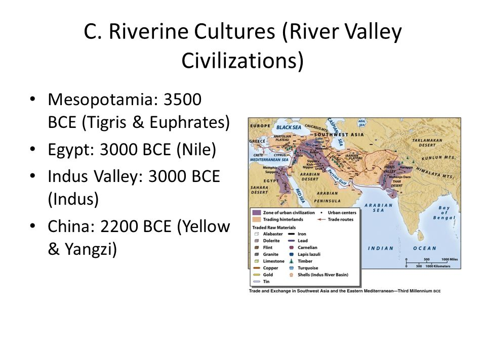 C. Riverine Cultures (River Valley Civilizations)