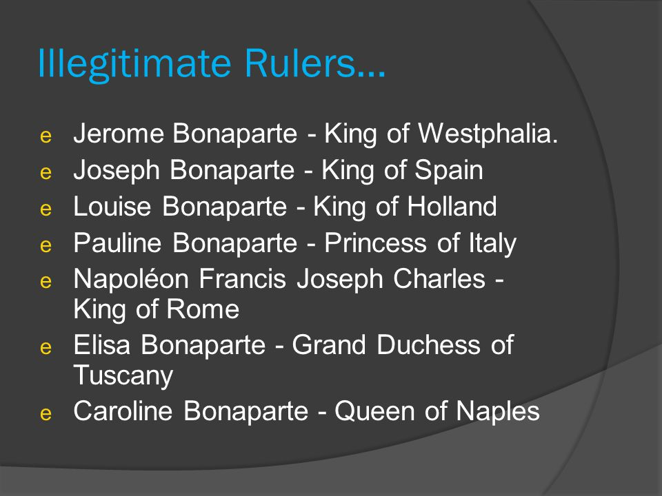 Illegitimate Rulers… Jerome Bonaparte - King of Westphalia.