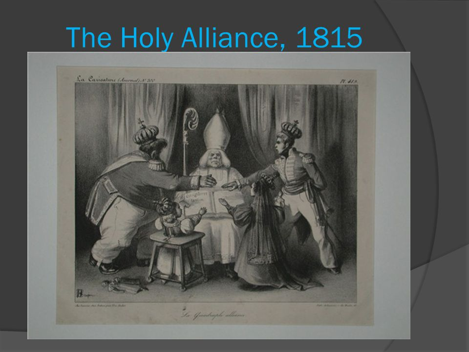 The Holy Alliance, 1815