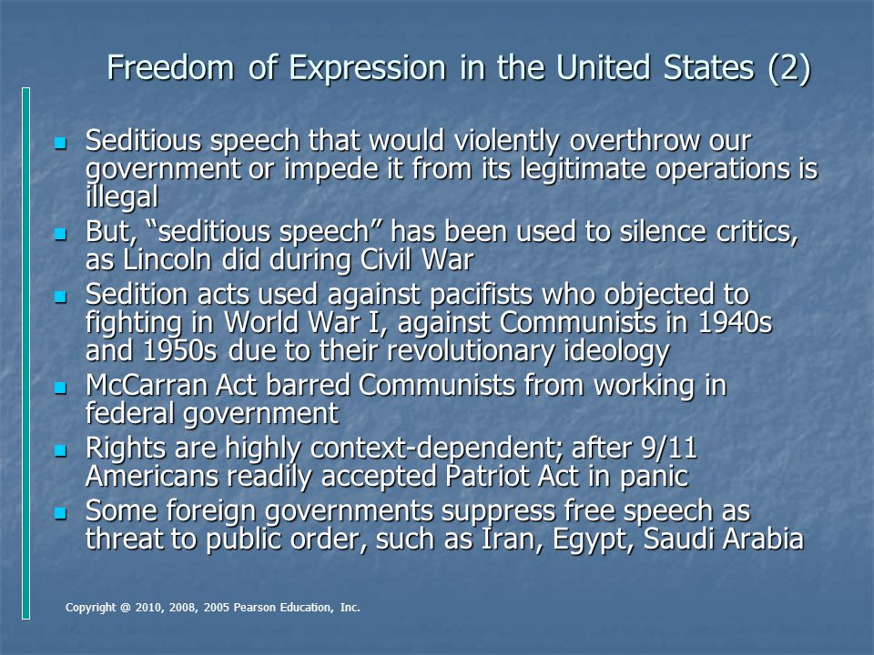 Freedom of Expression in the United States (2)
