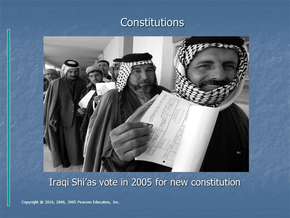 Iraqi Shi'as vote in 2005 for new constitution
