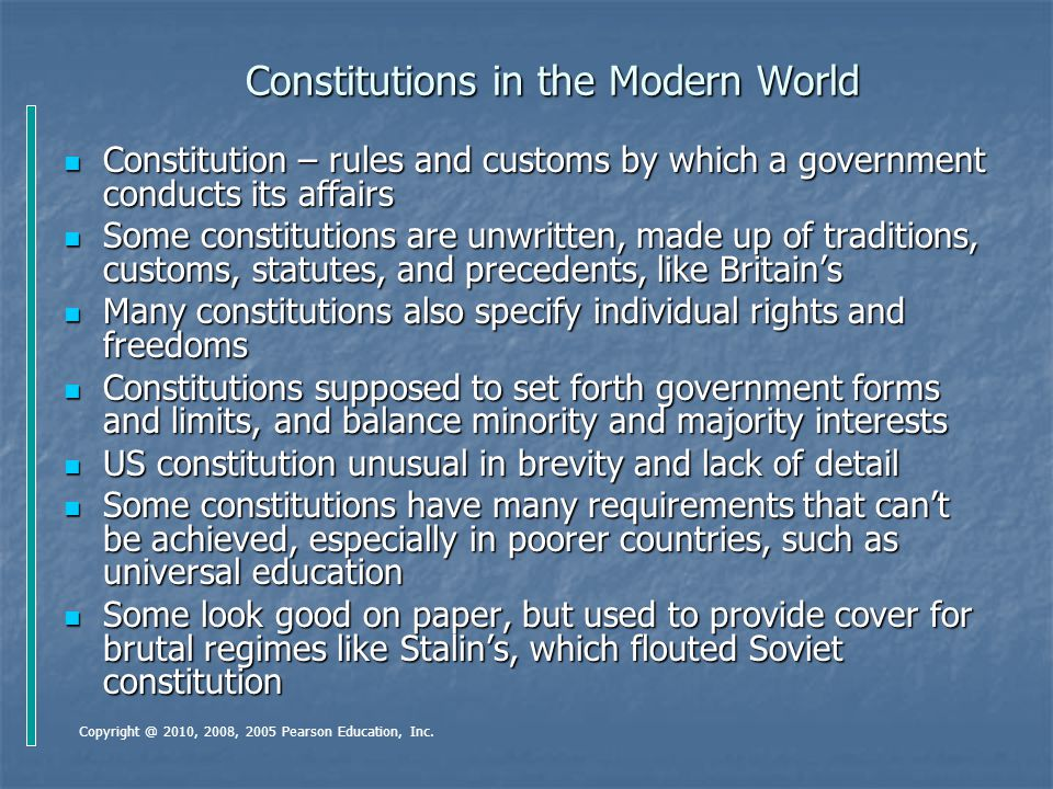 Constitutions in the Modern World