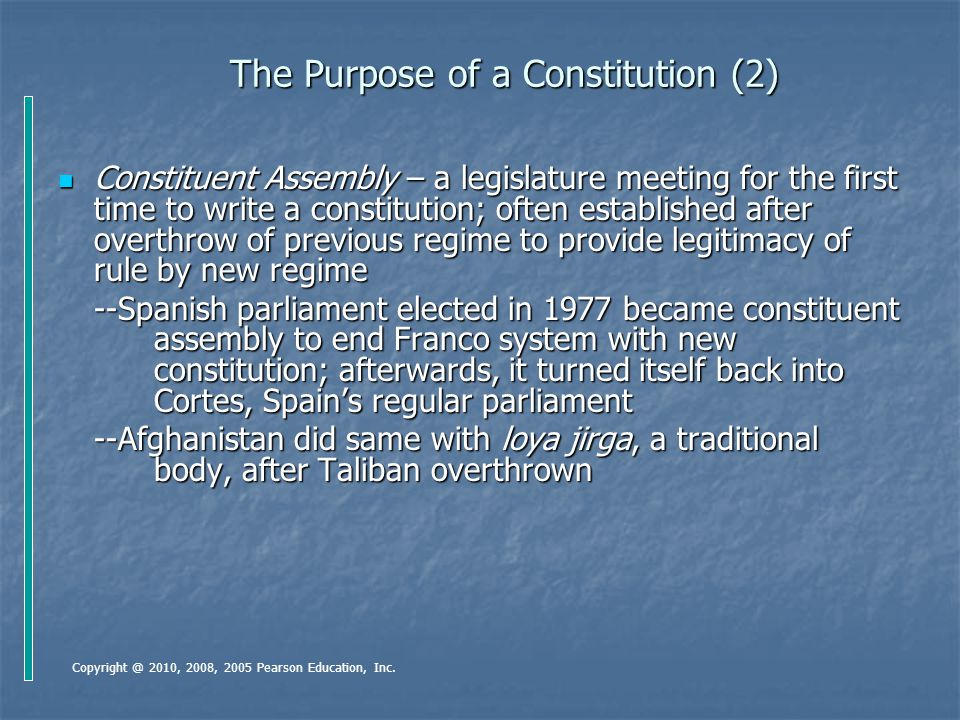 The Purpose of a Constitution (2)