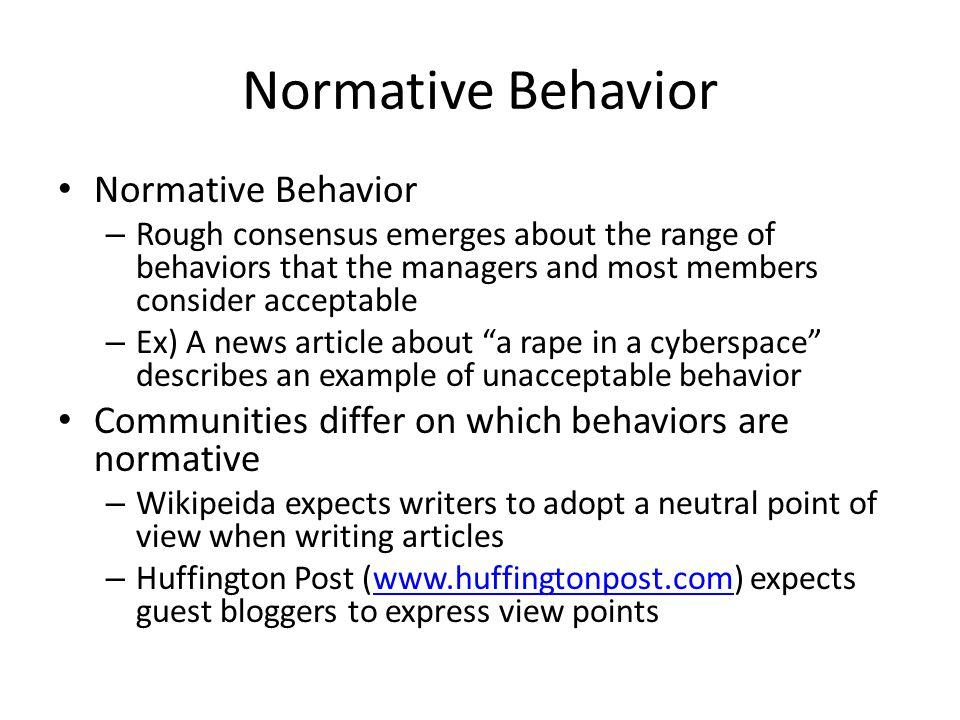 Normative Behavior Normative Behavior