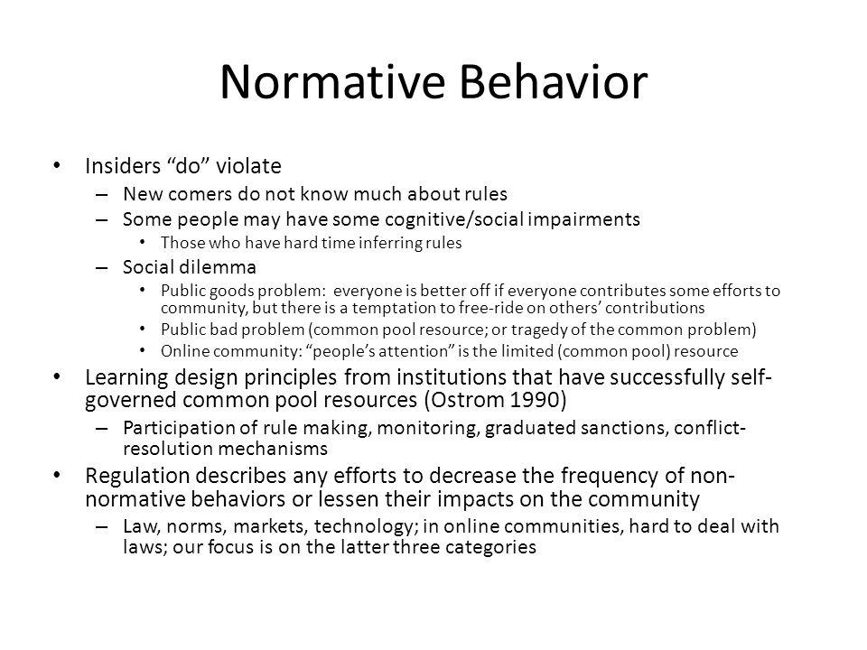 Normative Behavior Insiders do violate