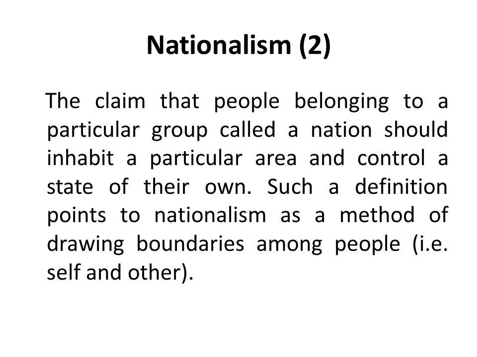 Nationalism (2)