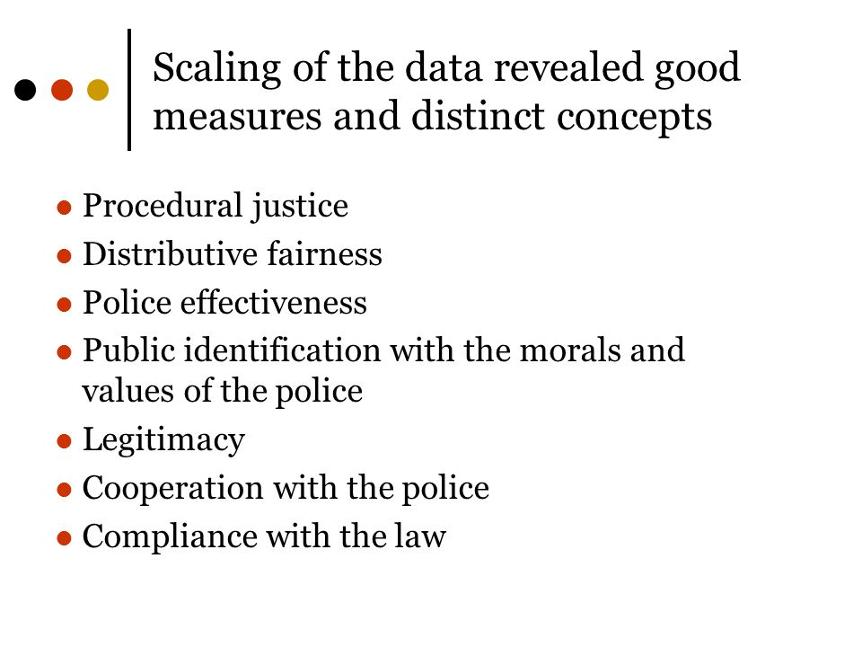 Scaling of the data revealed good measures and distinct concepts