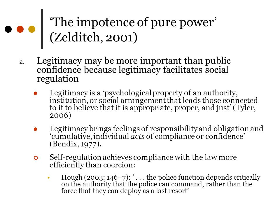 'The impotence of pure power' (Zelditch, 2001)