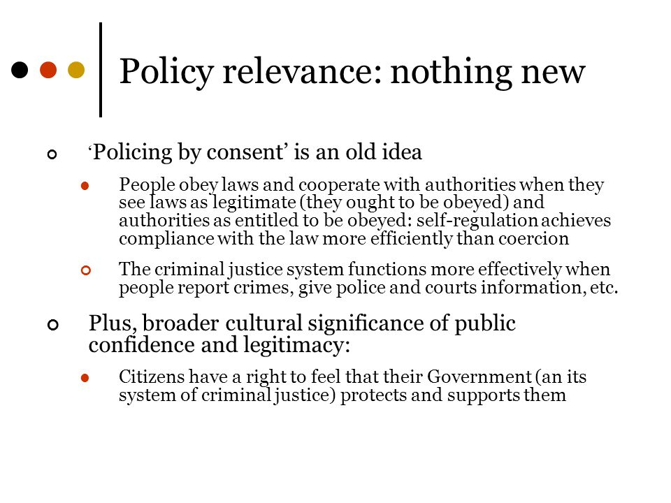 Policy relevance: nothing new