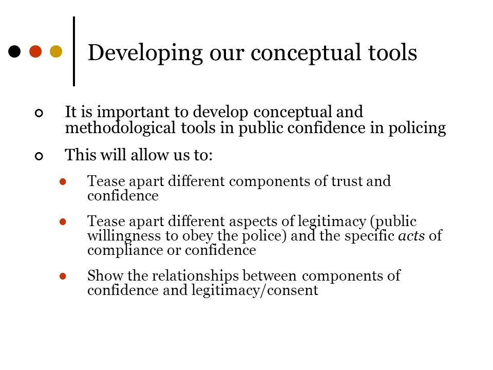 Developing our conceptual tools