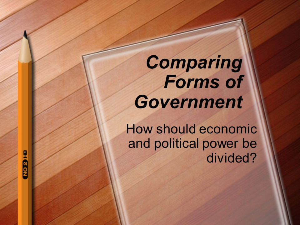 Comparing Forms of Government
