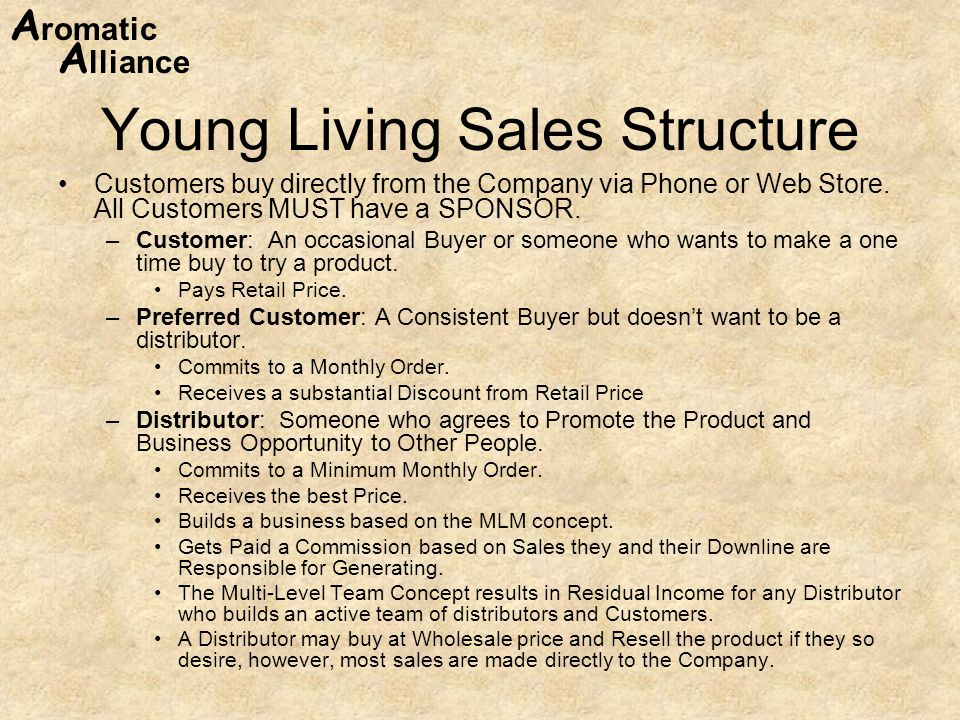 Young Living Sales Structure