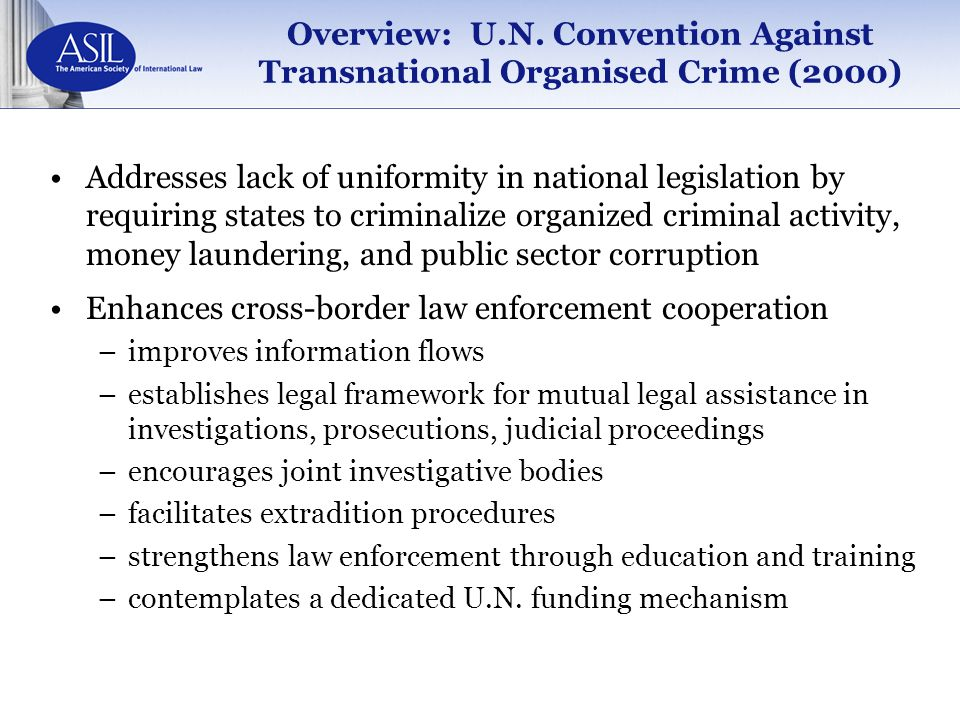 Overview: U.N. Convention Against Transnational Organised Crime (2000)