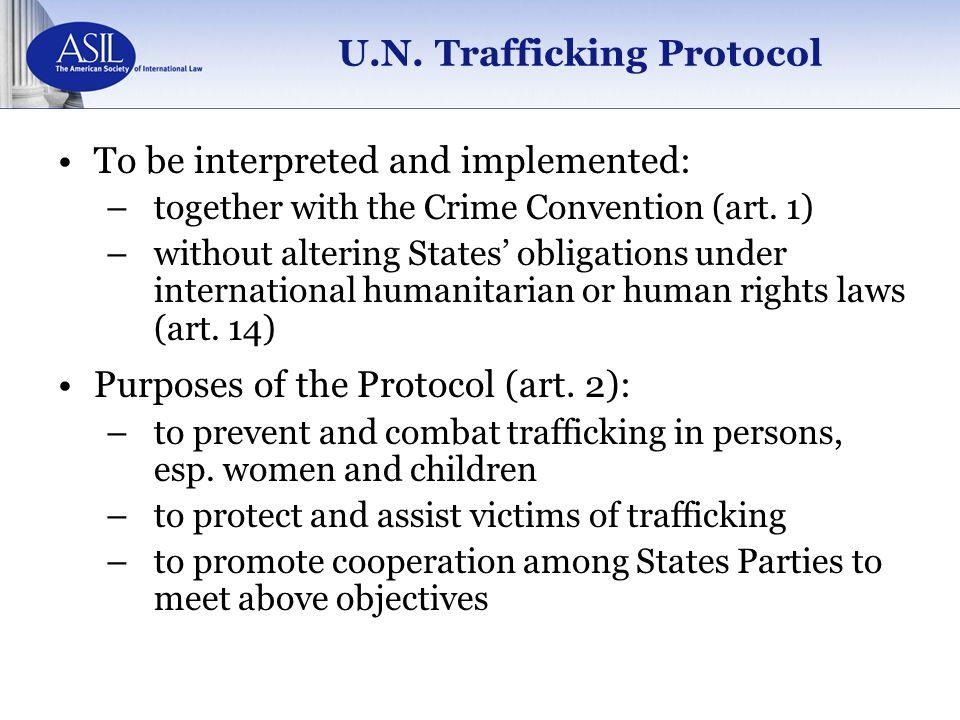 U.N. Trafficking Protocol