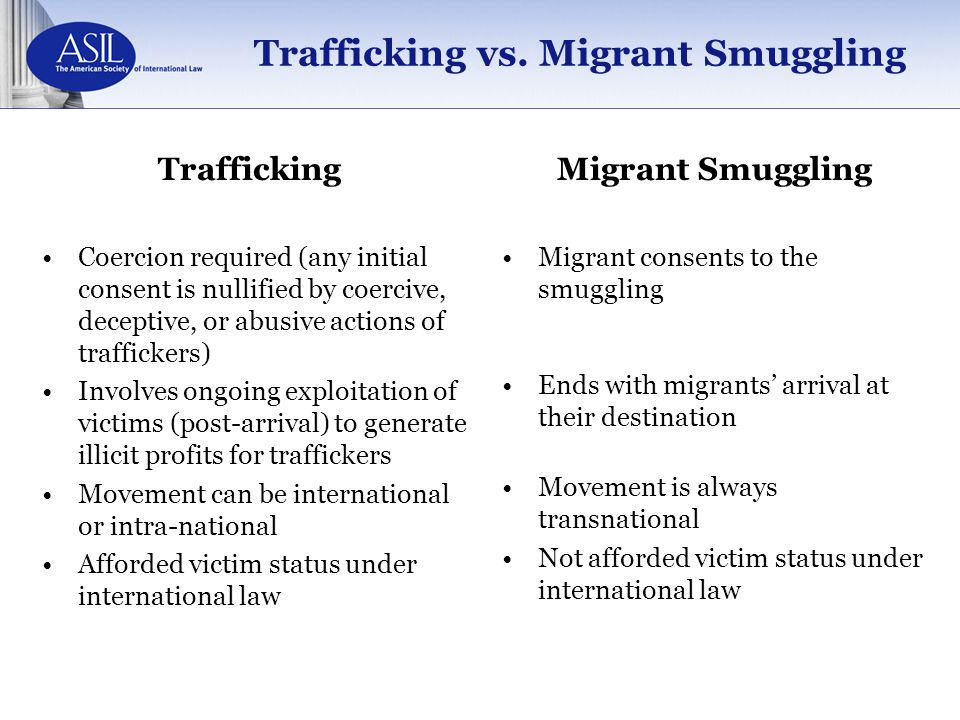Trafficking vs. Migrant Smuggling