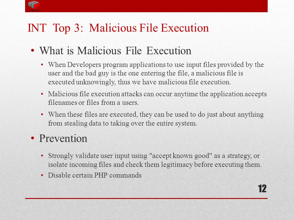 INT Top 3: Malicious File Execution