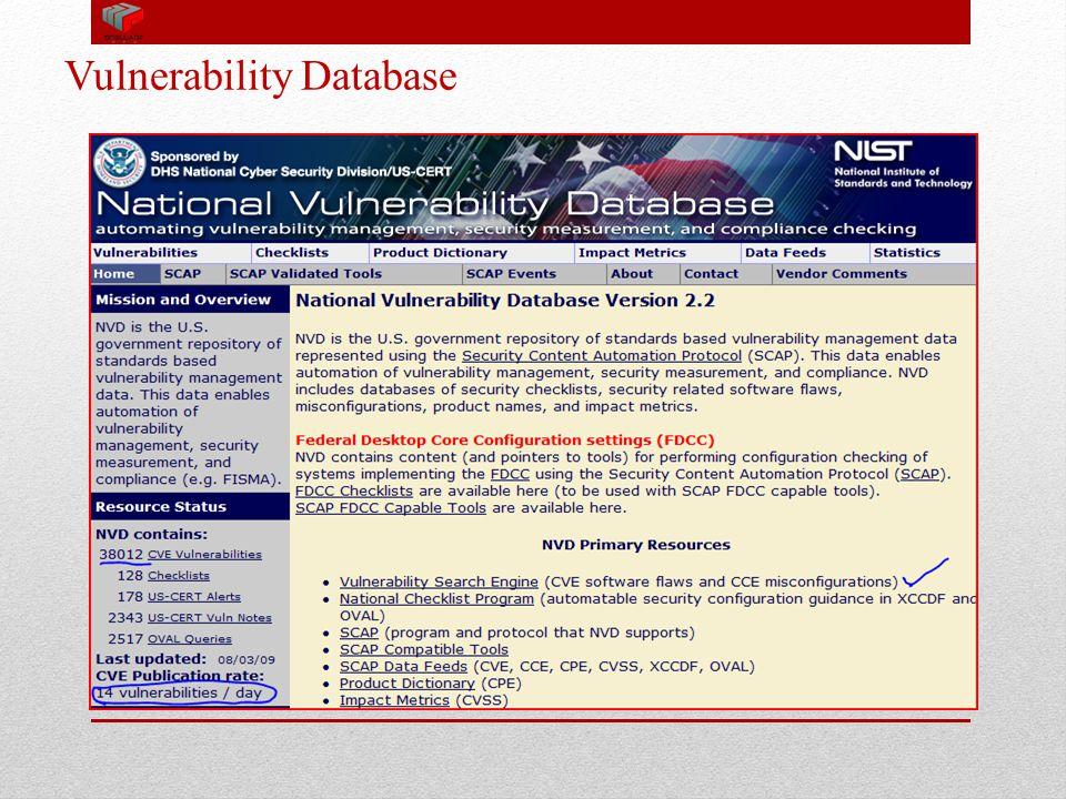 Vulnerability Database