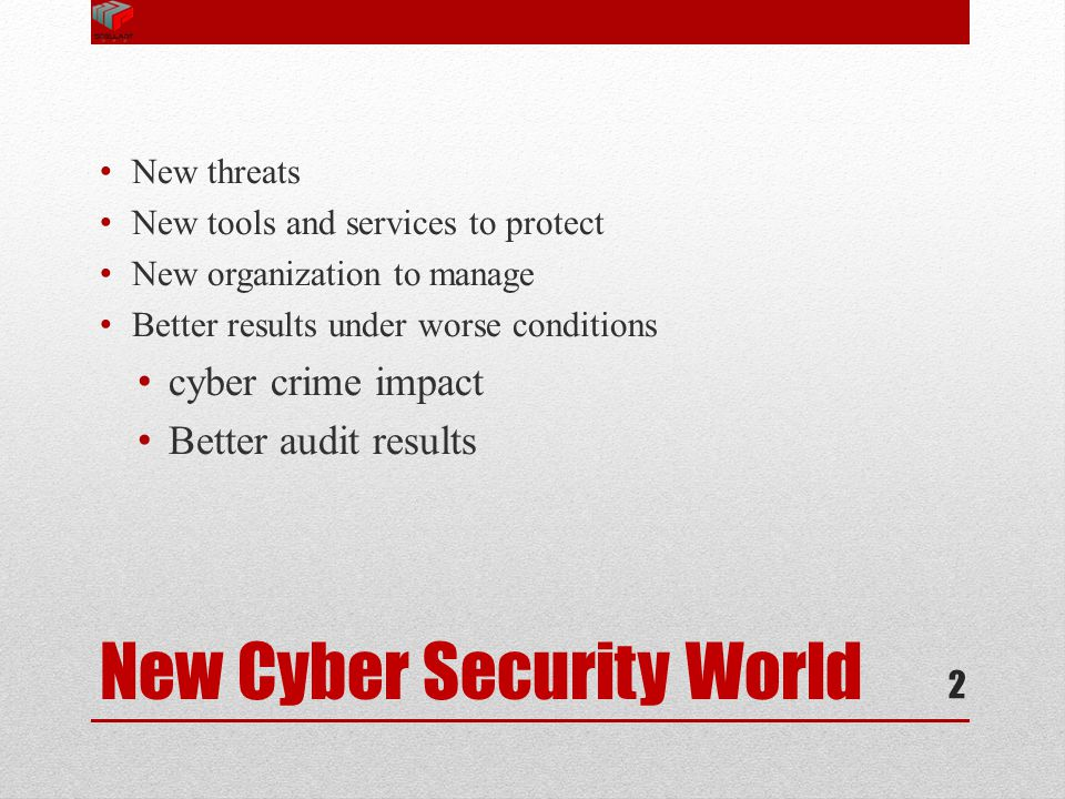 New Cyber Security World