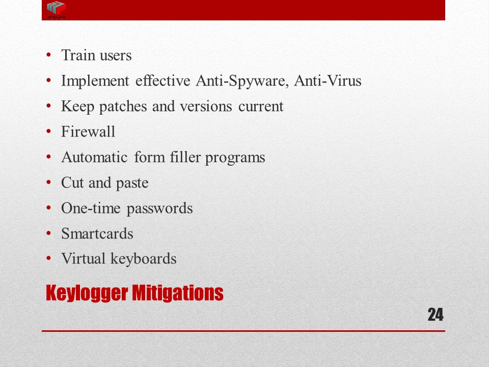 Keylogger Mitigations