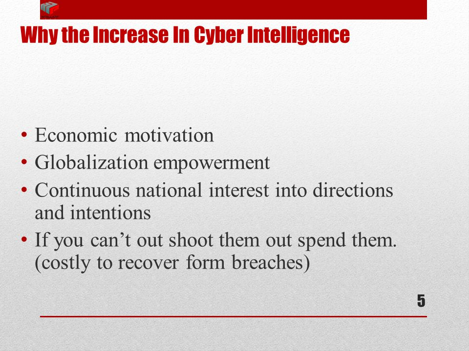 Why the Increase In Cyber Intelligence