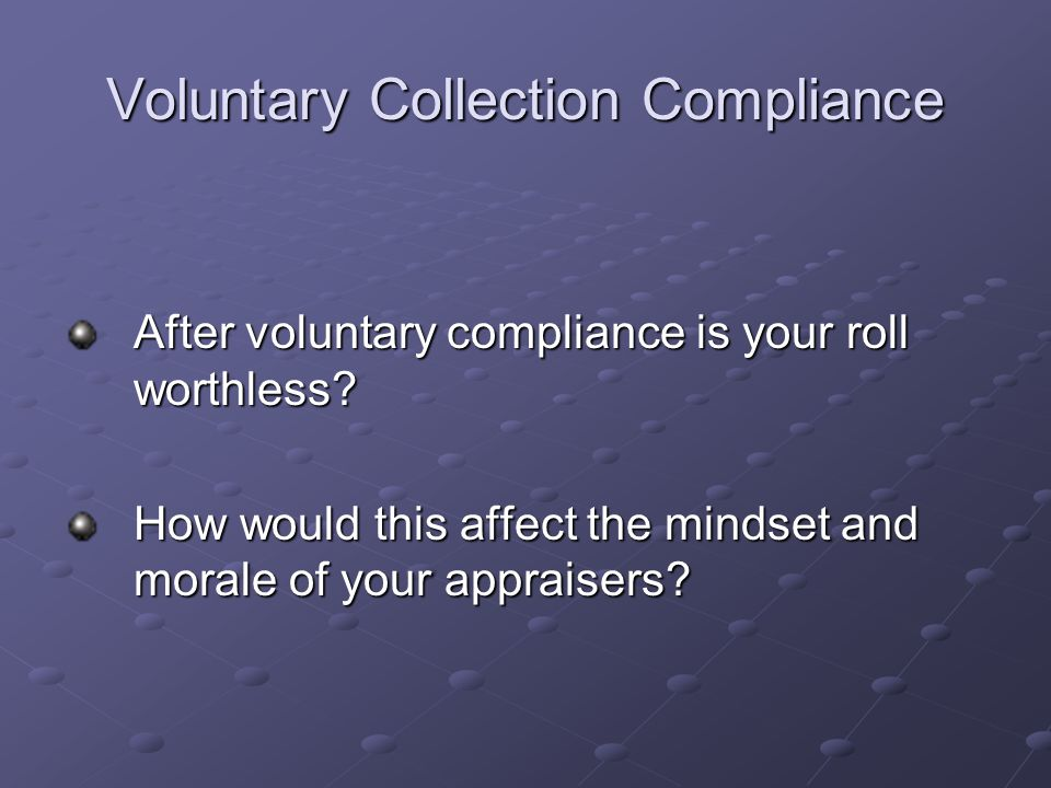 Voluntary Collection Compliance