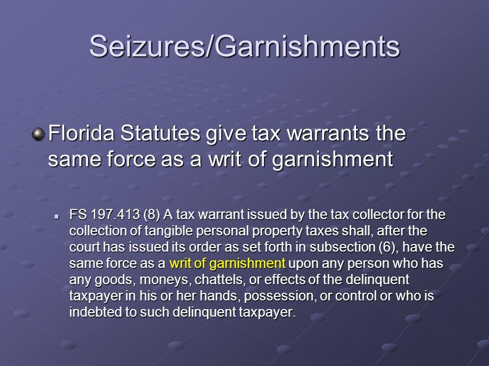 Seizures/Garnishments