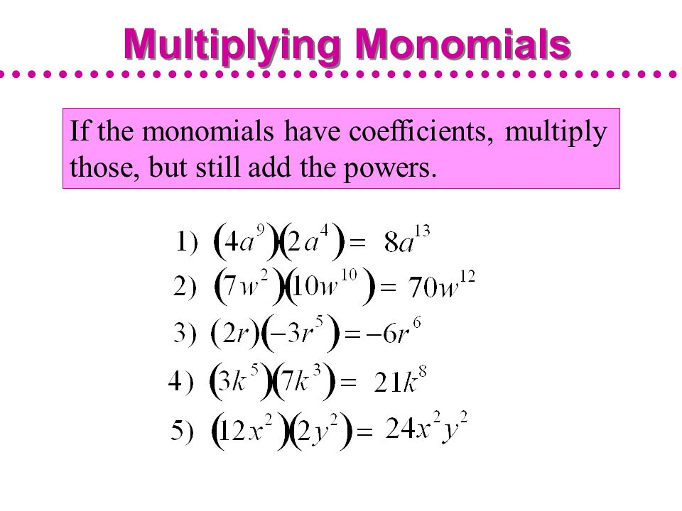 Multiplying Monomials and Raising Monomials to Powers ppt download – Multiply Monomials Worksheet