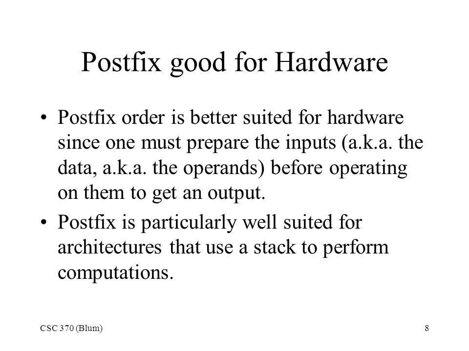 Postfix good for Hardware