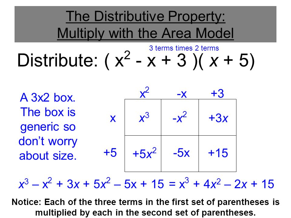 The Distributive Property: Multiply with the Area Model