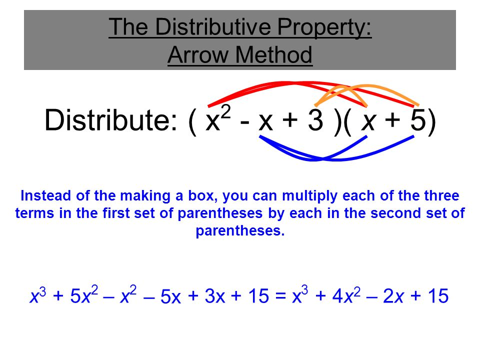 The Distributive Property: Arrow Method