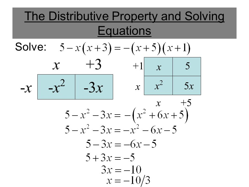 The Distributive Property and Solving Equations