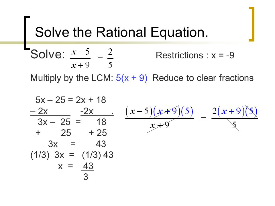 Solve the Rational Equation.