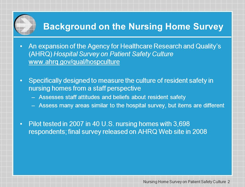 Background on the Nursing Home Survey