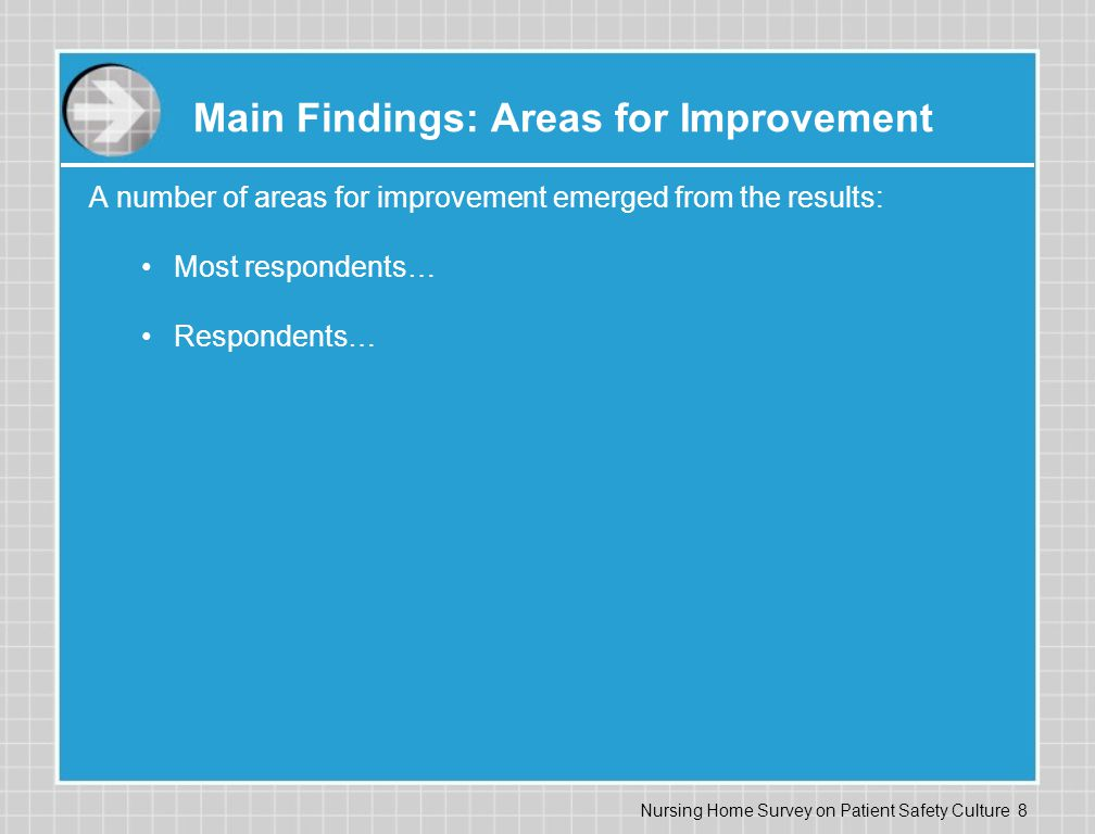Main Findings: Areas for Improvement