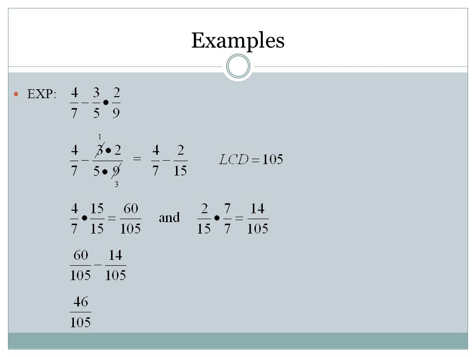 Examples EXP: