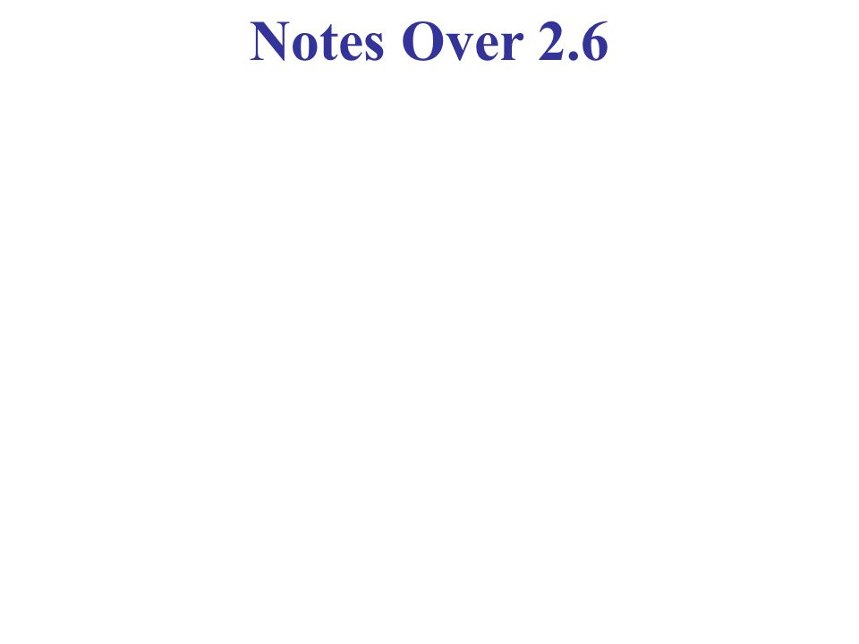 Notes Over 2.6