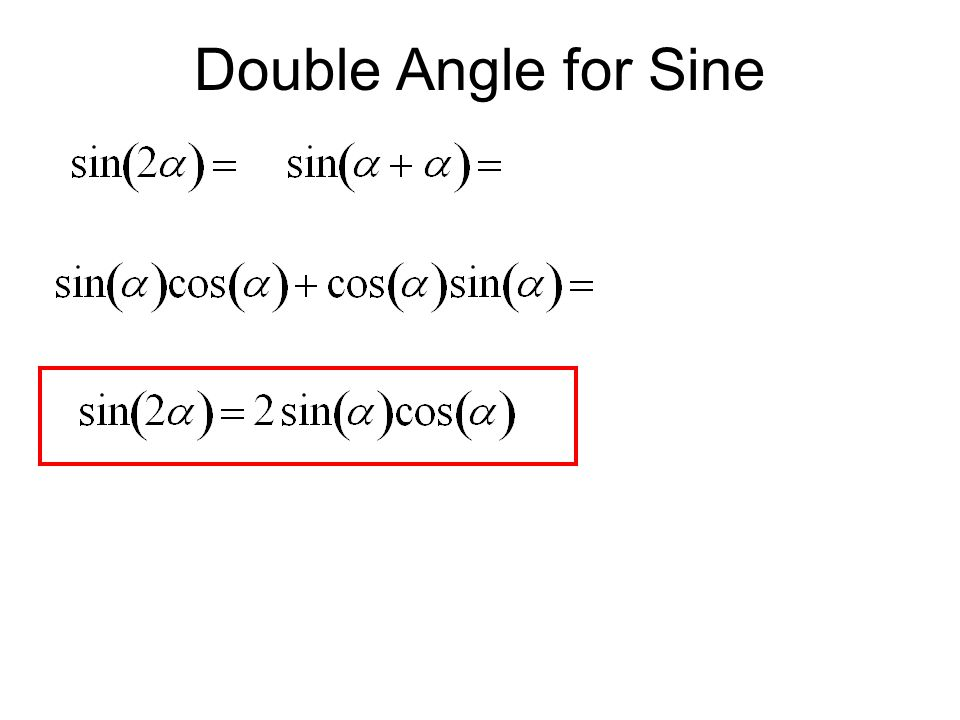 Double Angle for Sine