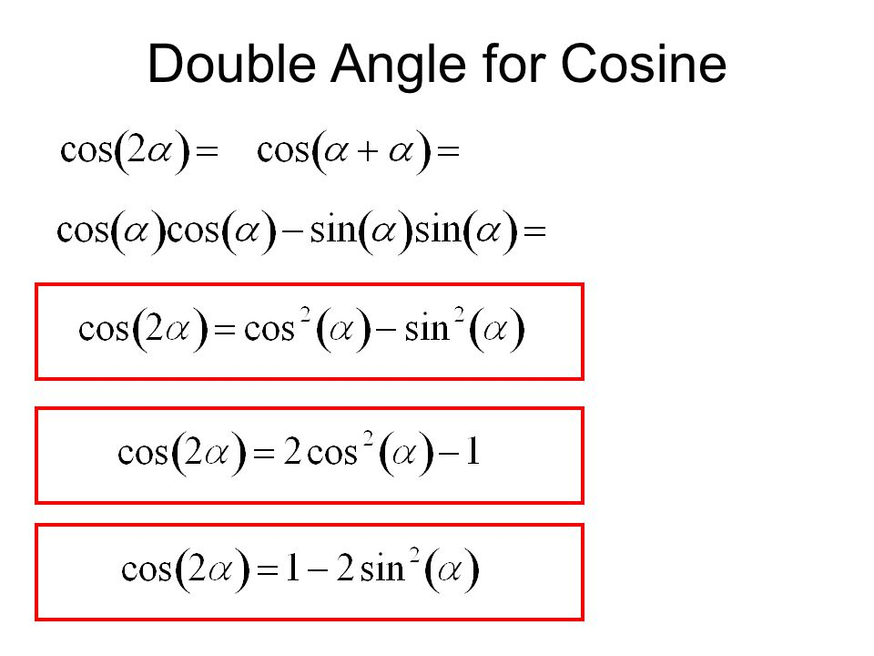Double Angle for Cosine