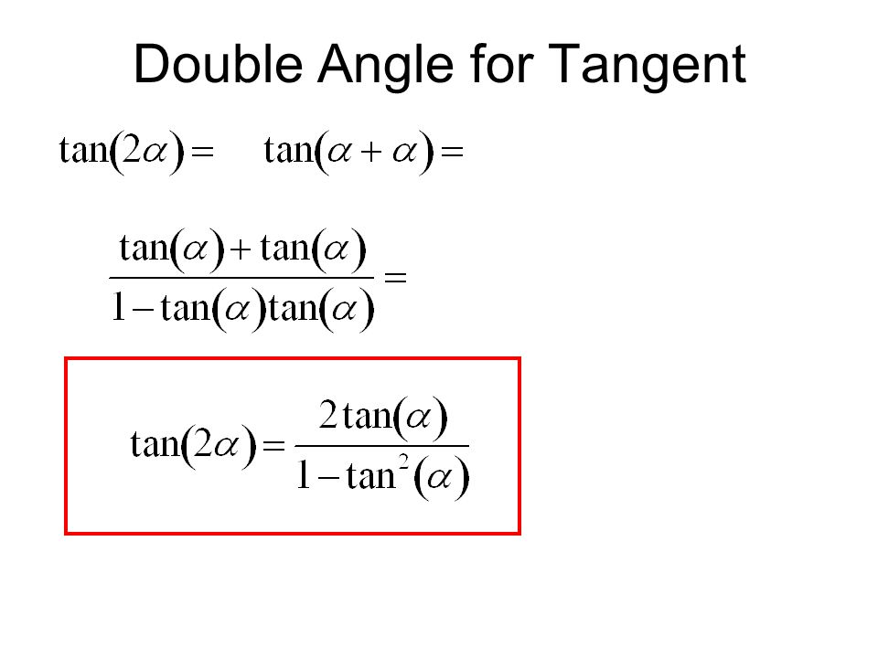 Double Angle for Tangent