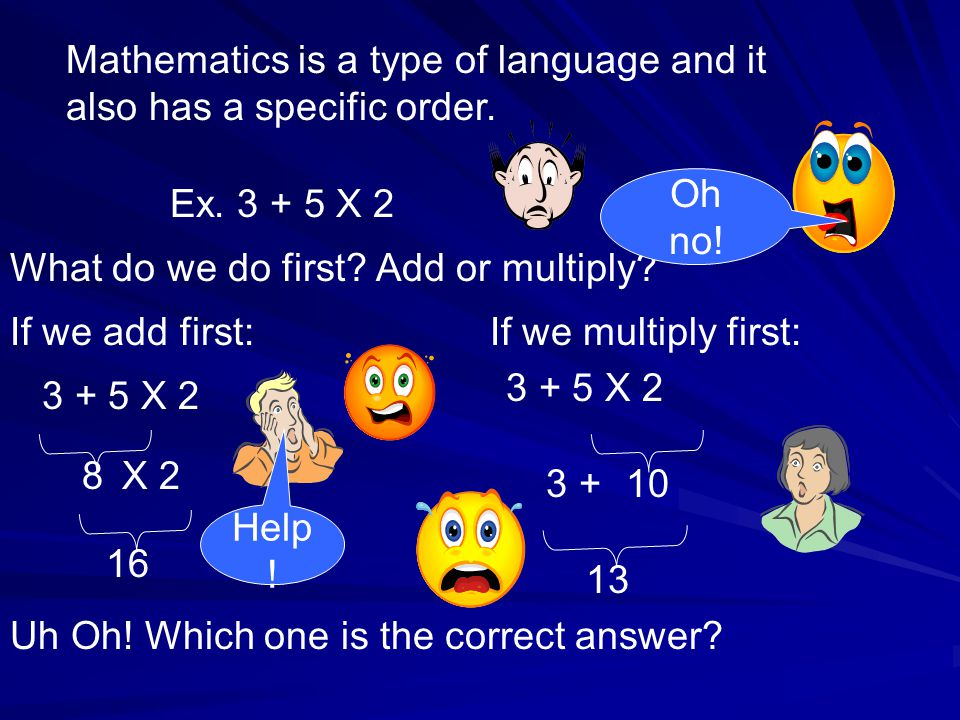 Mathematics is a type of language and it also has a specific order.