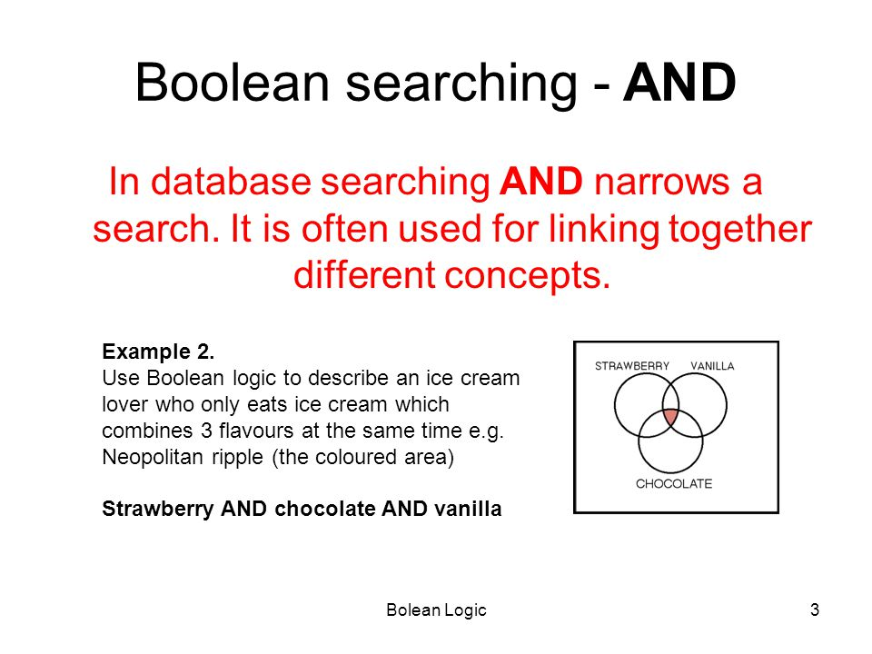 Boolean searching - AND