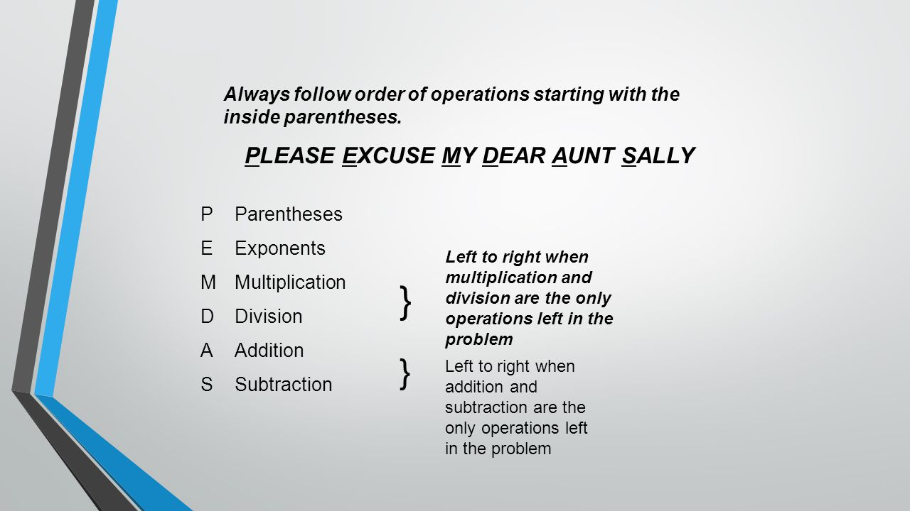 PLEASE EXCUSE MY DEAR AUNT SALLY
