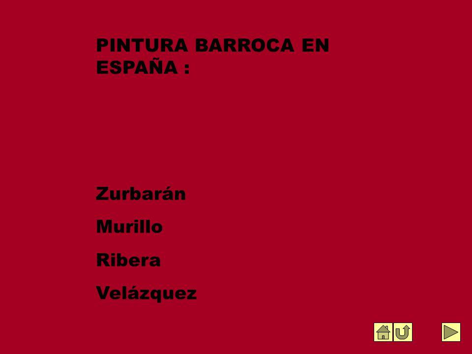 PINTURA BARROCA EN ESPAÑA :