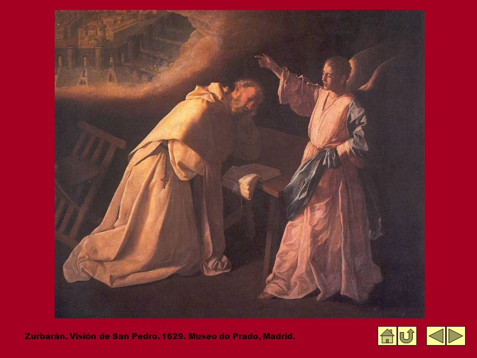 Zurbarán. Visión de San Pedro. 1629. Museo do Prado, Madrid.