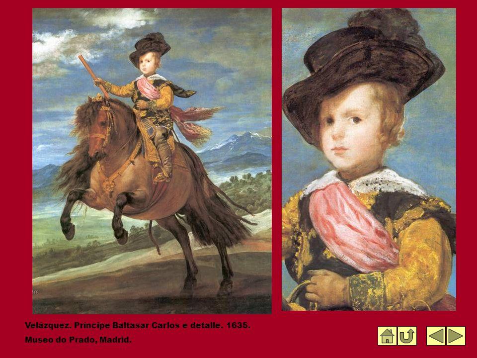Velázquez. Príncipe Baltasar Carlos e detalle. 1635.