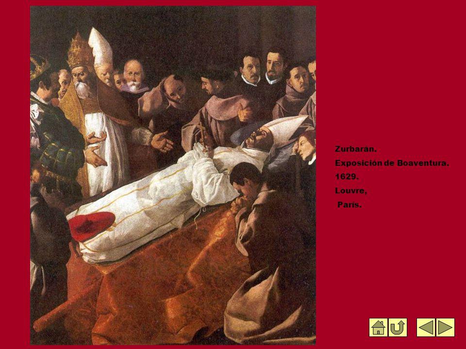 Zurbarán. Exposición de Boaventura. 1629. Louvre, París.
