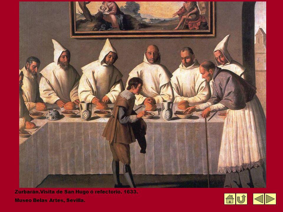 Zurbarán.Visita de San Hugo ó refectorio. 1633.
